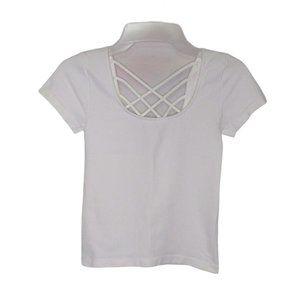 Skylee Collection Women Slim Crop Top Tee, White